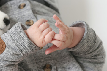 Close-up of a baby's hand