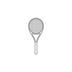Tennis racket vector. Sports equipment tennis racket