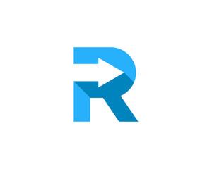 Letter R Arrow Logo Design Element