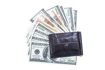 money in your wallet, banknotes and coins