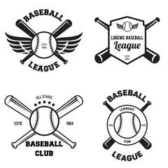 Set of baseball sport badge logo design template and some elements For logos badge banner emblem label insignia.