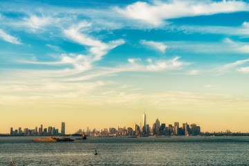 Manhattan view from the ferry to Staten Island., New York City , USA. picture.