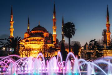 Illuminated Sultan Ahmed Mosque