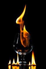 Glas in Flammen