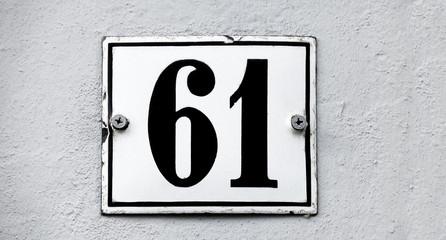 Hausnummer einundsechzig