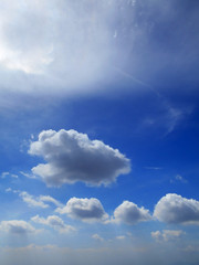 Beautiful Clouds in the Daylight Blue Sky Background
