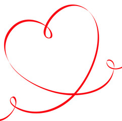 Herzförmiges Band mit Textfreiraum