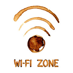 Wi-Fi zone sign