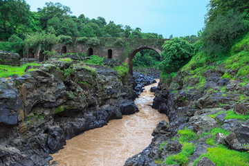 Bridge of the Portuguese on the river Blue Nile. Ethiopia