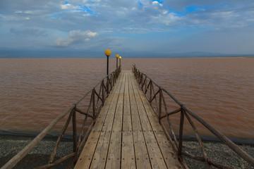 Jetty at Lake Langano. Ethiopia