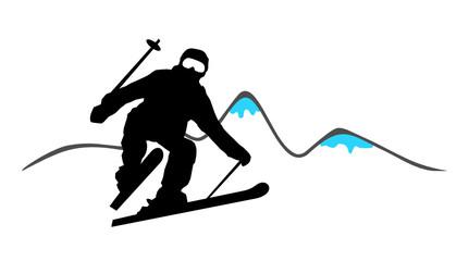 Skifahren Berge