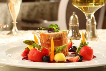 Fine dining restaurant dish
