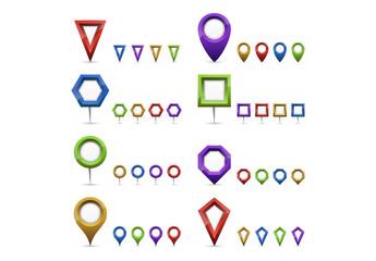 Multicolored Locator Pins