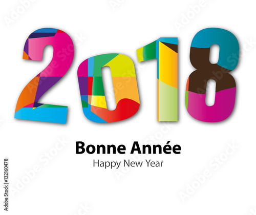 """Top Carte de vœux - Bonne année 2018 """" fichier vectoriel libre de  DL11"""