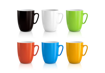 6 Tall Mugs Illustration