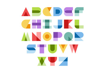 Abstract Style Alphabet Illustration