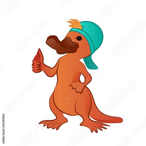 Close Up Characters Cartoon 01 : Quot cartoon platypus thumb up character stock image and