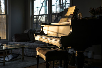Grand Piano in Sunlight