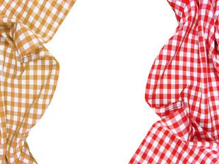 Obraz biało czerwony, obrus,  checkered tablecloth, white - fototapety do salonu