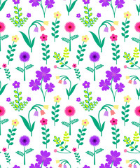 Seamles Flower Pattern.