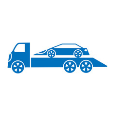 car tow truck on a white background