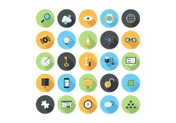 25 Circular Tech and Media Icons