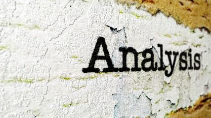 Wall Mural - Analysis grunge concept
