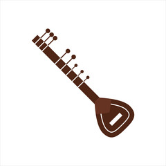 Vector Illustration indian musical instrument.