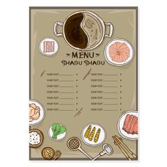 menu shabu drawing graphic  design objects template