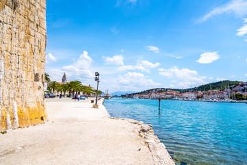 View of marina in Trogir, historic town in Croatia