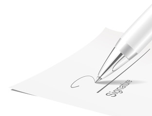 Pen and signature