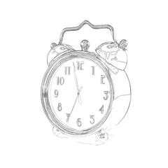 Retro Alarm Clock - Sketch