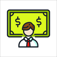 business dollar icon color