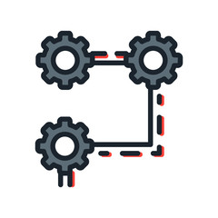 system structure icon color