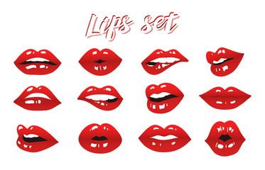 lips set vector design