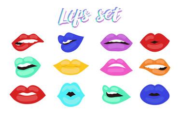 lips set vector design 3