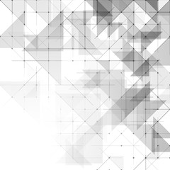 Geometric simple minimalistic background. Triangles dotted pattern. Vector illustration