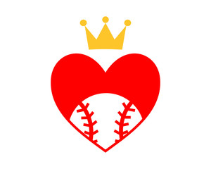 red heart baseball