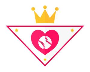 heart baseball ace icon