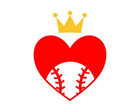 red heart baseball