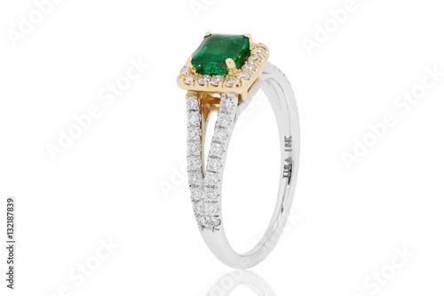 a1cce451868e anillo argolla con esmeraldas colombianas y diamantes en oro joyeria ...