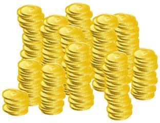山積みのコイン イメージイラスト