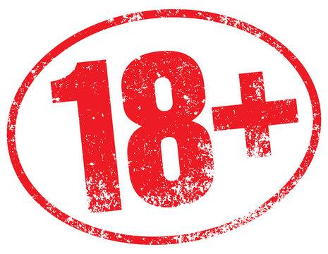 18 age warning stamp