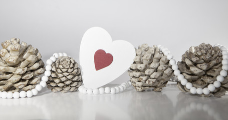 décoration de saint Valentin nature