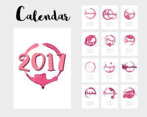wine calendar 2017