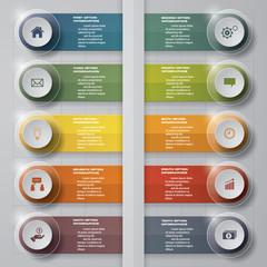 10 options timeline use for infographic/presentation . EPS10.