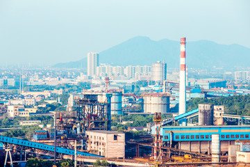 constructions of power plant in steel factory