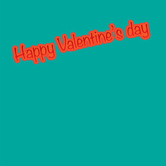 Happy Valentine's day text with copy space