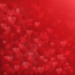 Square HEARTS Background