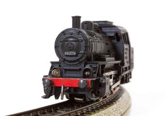 Vintage Model Steam Locomotive on the Rails